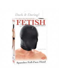 Spandex Full Face Hood Black