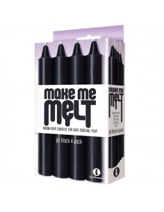 Make Me Melt Candles 4 Pack Jet Black